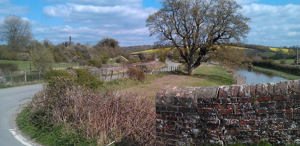 The Kennet & Avon Canal near Crofton, where road, rail and canal meet