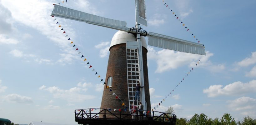 Wilton Windmill - setting the sails